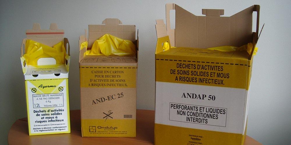 Cartons pour tri déchets à risques infectieux